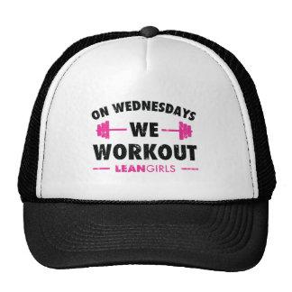 Lean Girls On Wednesdays We Workout Trucker Hat