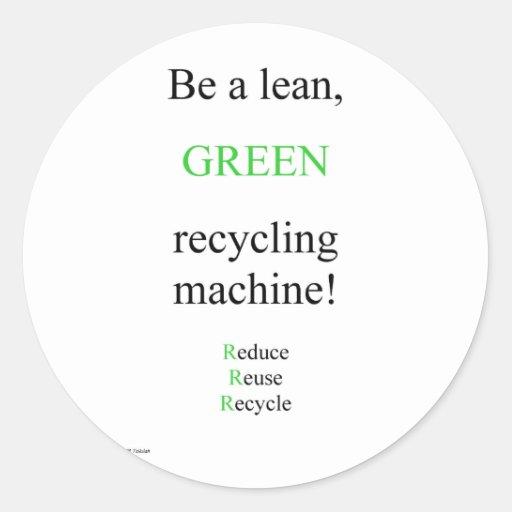 Lean Green Classic Round Sticker