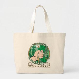 Lean, Green Environmental Machine Tote Bag