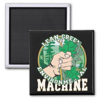 Lean, Green Environmental Machine Refrigerator Magnet