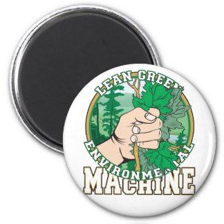 Lean, Green Environmental Machine Refrigerator Magnets