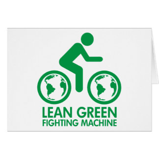 Lean Green Fighting Machine Card