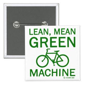 Lean Green Mean Machine 2 Inch Square Button