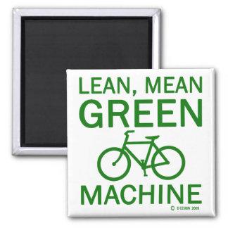 Lean Green Mean Machine 2 Inch Square Magnet