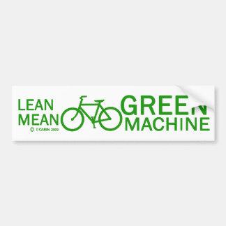 Lean Green Mean Machine Bumper Sticker