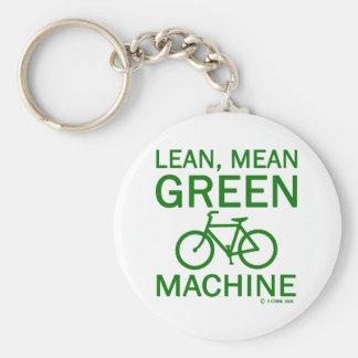 Lean Green Mean Machine Basic Round Button Keychain