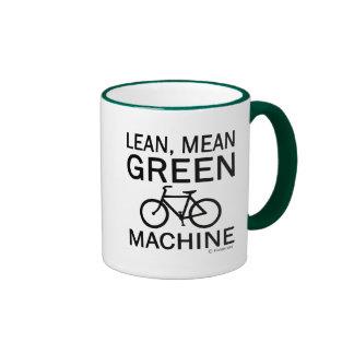 Lean Green Mean Machine Ringer Coffee Mug