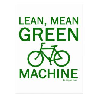 Lean Green Mean Machine Postcard