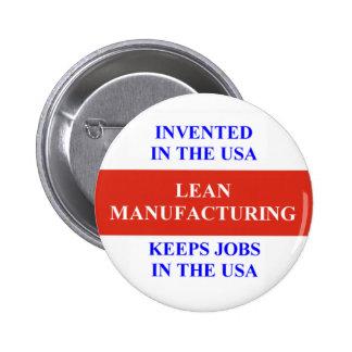 Lean Manufacturing Button