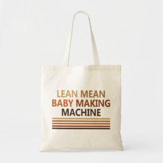 Lean Mean Baby Making Machine Canvas Bags