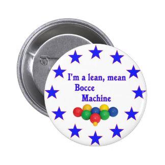 Lean Mean Bocce Machine 2 Inch Round Button