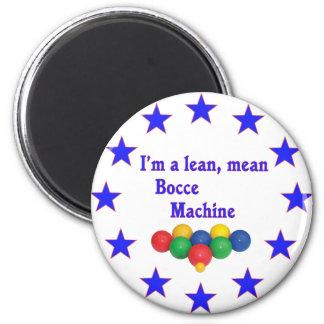 Lean Mean Bocce Machine 2 Inch Round Magnet