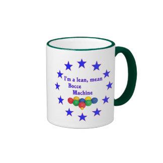 Lean Mean Bocce Machine Ringer Coffee Mug