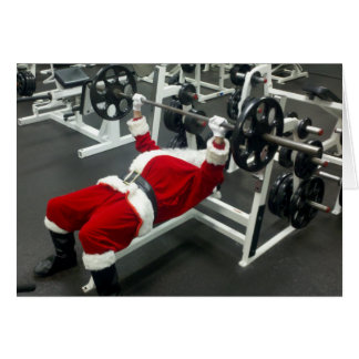 lean & mean Santa - funny silly christmas holiday Card