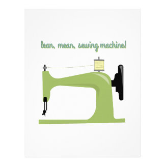 Lean, Mean Sewing Machine! Personalized Letterhead
