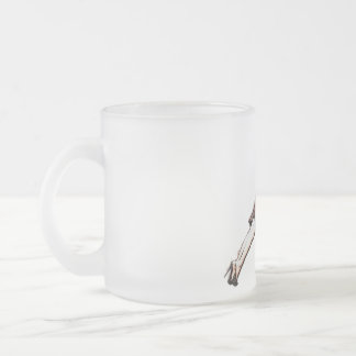 Lean On Me Frosted Glass Coffee Mug