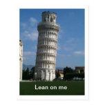 Lean on me postcard