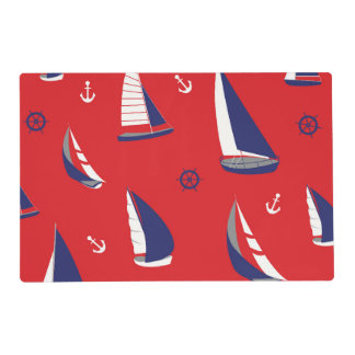 Lean Sailboat Pattern Placemat