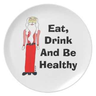 Lean Santa - Eat, Drink And Be Healthy Plate