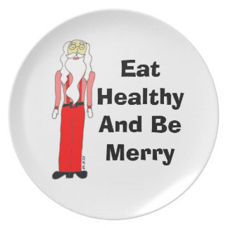 Lean Santa - Eat Healthy And Be Merry Plate