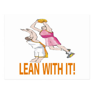 Lean With It Postcard