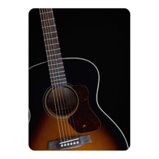 """Leaning Acoustic Guitar 5"""" X 7"""" Invitation Card"""