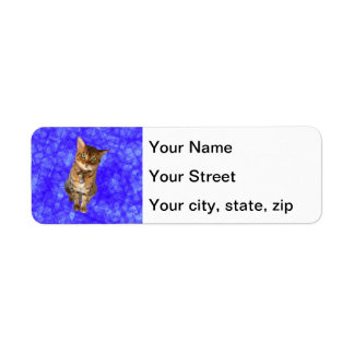 Leaning Bengal Cat Return Address Label