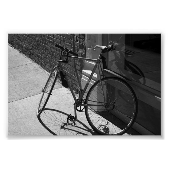 Leaning Bike Poster
