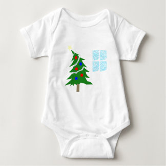 Leaning Christmas Tree Baby Bodysuit