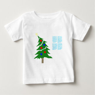 Leaning Christmas Tree Baby T-Shirt
