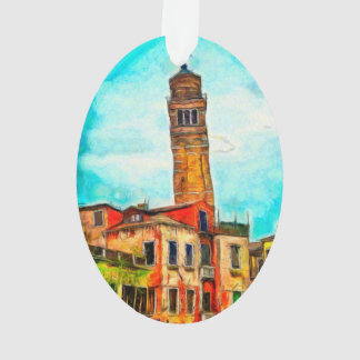 Leaning church painting, Venice Ornament