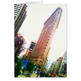 leaning Flatiron Building clear Cards