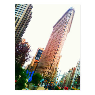 leaning Flatiron Building clear Postcard