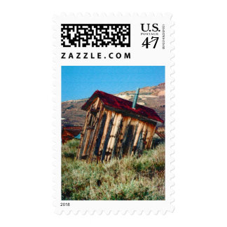 Leaning Nevada Outhouse USPS Stamp