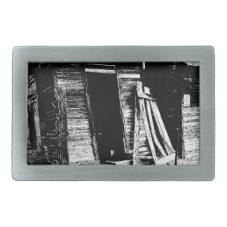 Leaning Outhouse Rectangular Belt Buckle