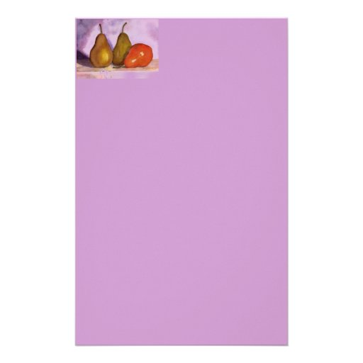 Leaning Pear Personalized Stationery