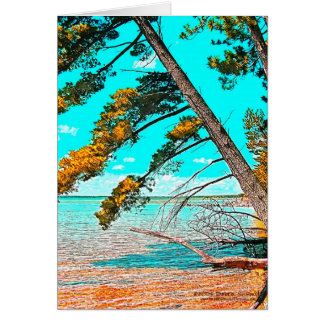 Leaning Pine Card