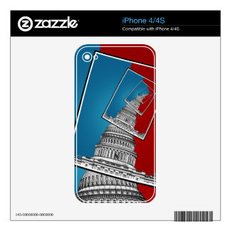 Leaning To The Right Skins For The iPhone 4