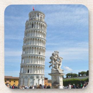 Leaning tower and La Fontana dei Putti Statue Coaster