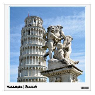 Leaning tower and La Fontana dei Putti Statue, Pis Wall Sticker