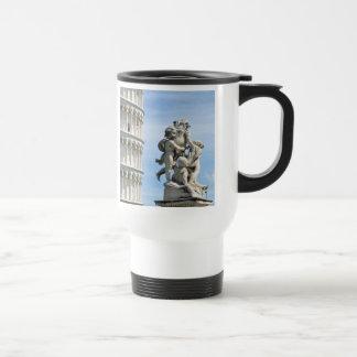 Leaning tower and La Fontana dei Putti Statue Travel Mug