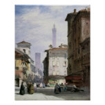 Leaning Tower, Bologna Poster
