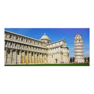 Leaning tower in Pisa Custom Rack Card