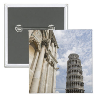 Leaning Tower of Pisa 2 Inch Square Button