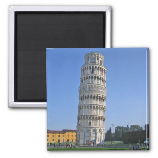 Leaning Tower of Pisa 2 Inch Square Magnet