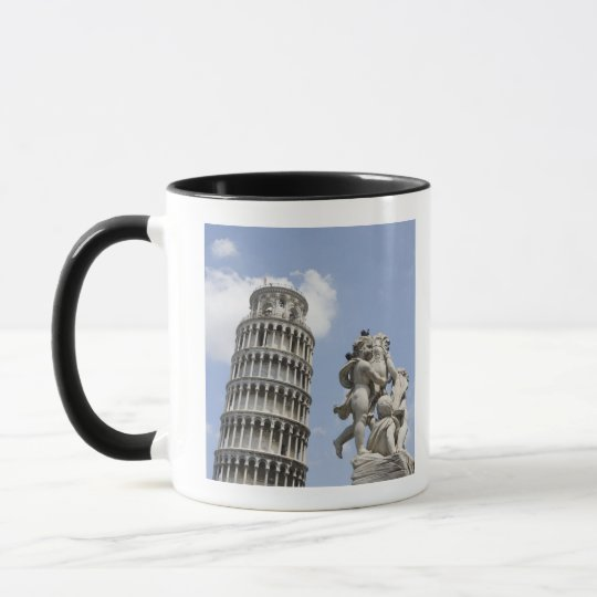 Leaning Tower of Pisa and Statue, Italy Mug
