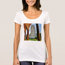 Leaning Tower of Pisa at Dusk Scoop Neck T T-Shirt