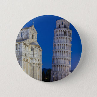 Leaning Tower of Pisa at night Pinback Button