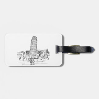 leaning tower of pisa bag tag