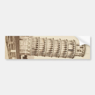 Leaning Tower of Pisa Car Bumper Sticker